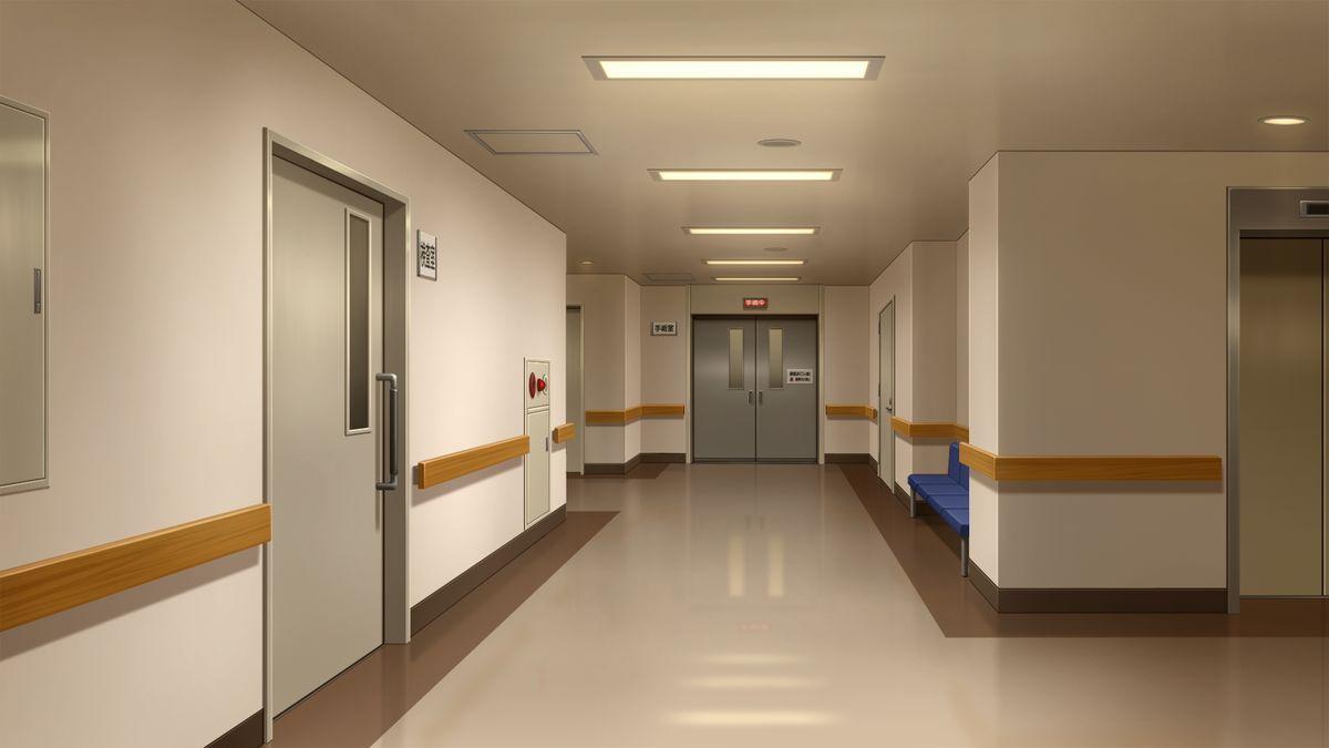 Sala De Estar Hospital ~ de hospital paisajes estilo lugares de anime pasillo de de hospital