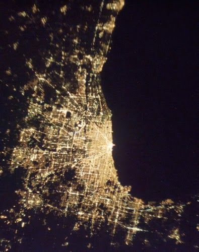 Chicago Night Lights from the ISS