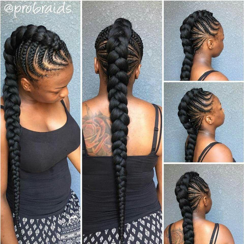 Cute style | Natural Hair/Braids | Pinterest | African braids ...