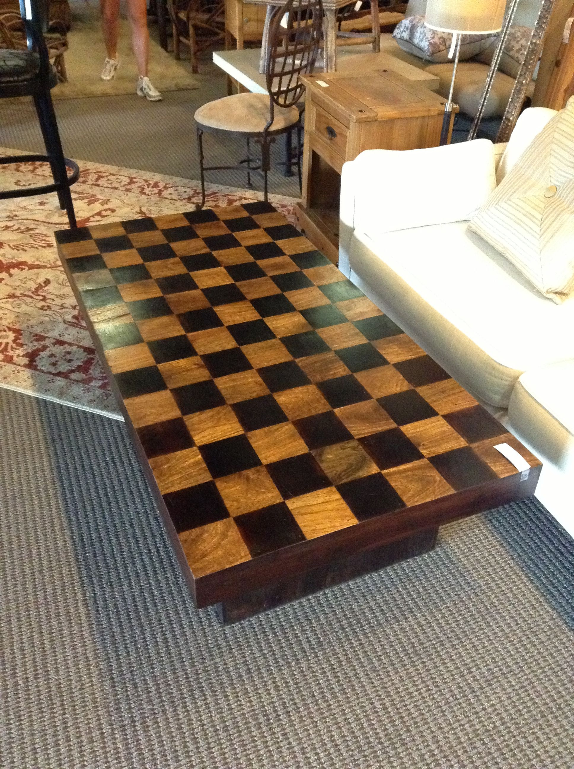 Checkered Coffee Table Found At Design With Consignment In Austintx