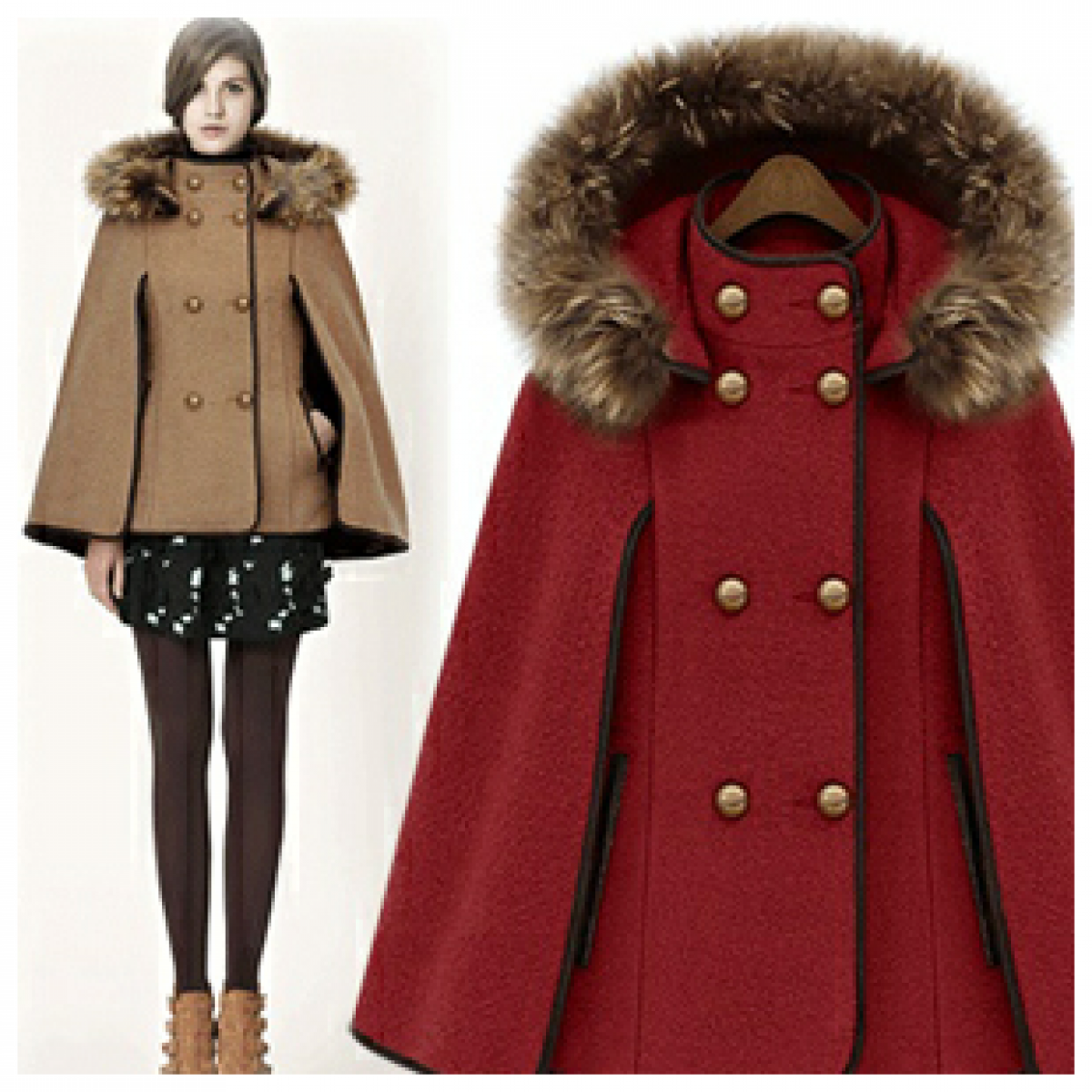 Manteau d'hiver court pour femme