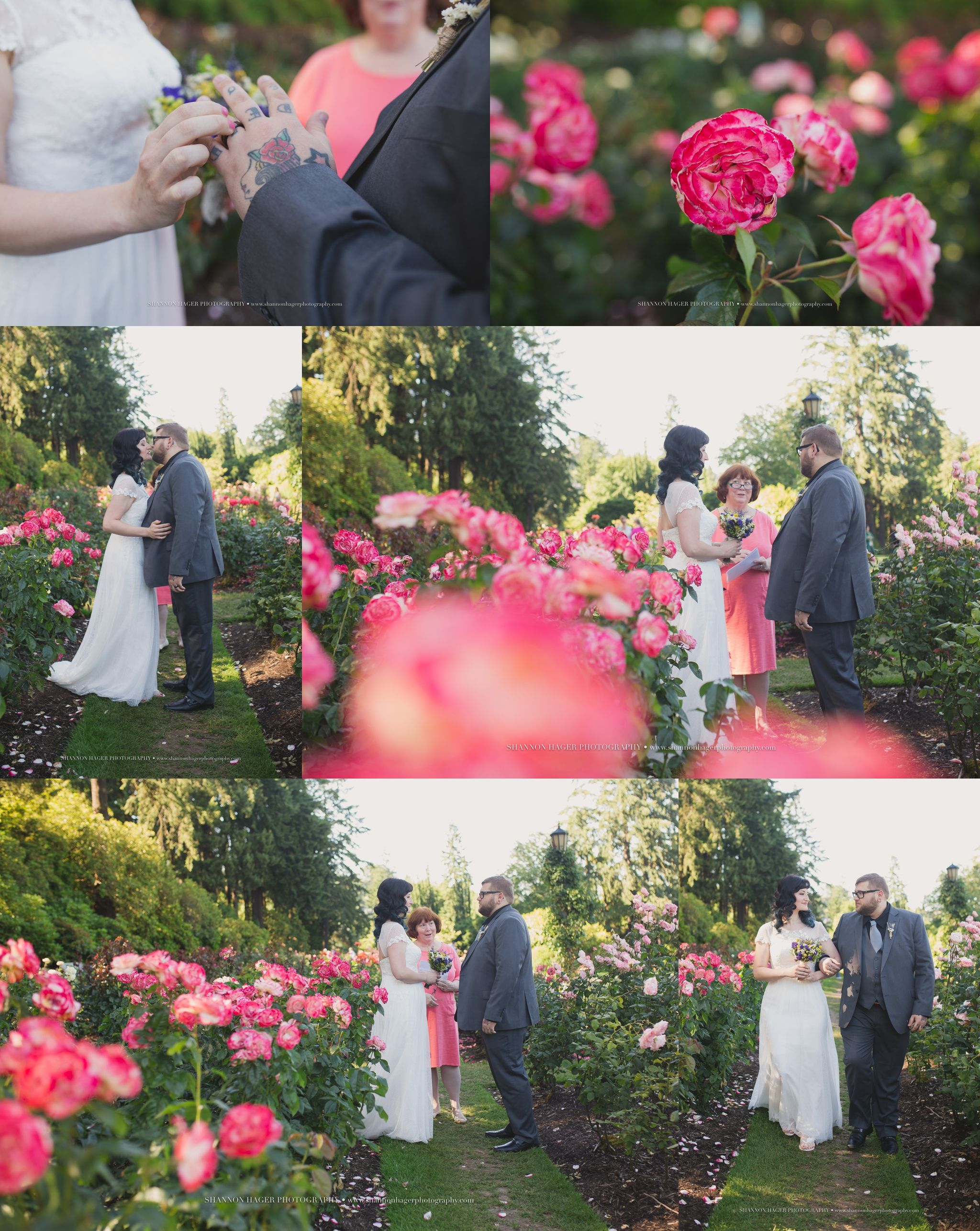 Portland Elopement Photographer Oregon Rose Garden Wedding Shannon Hager Photography