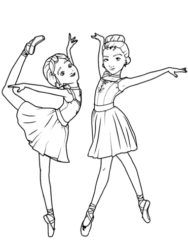 Camille Le Haut And Felicie Milliner From Leap Coloring Page Ballerina Coloring Pages Dance Coloring Pages Coloring Pages For Girls