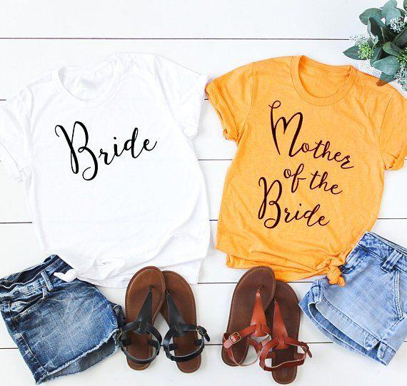 b983f17fb Bride T-Shirt, FREE SHIPPING, Maid of Honor Short Sleeve Tee Shirt, White  Bridal Tees, T-Shirts For Women, Bride Tribe, Bride Team Shirt