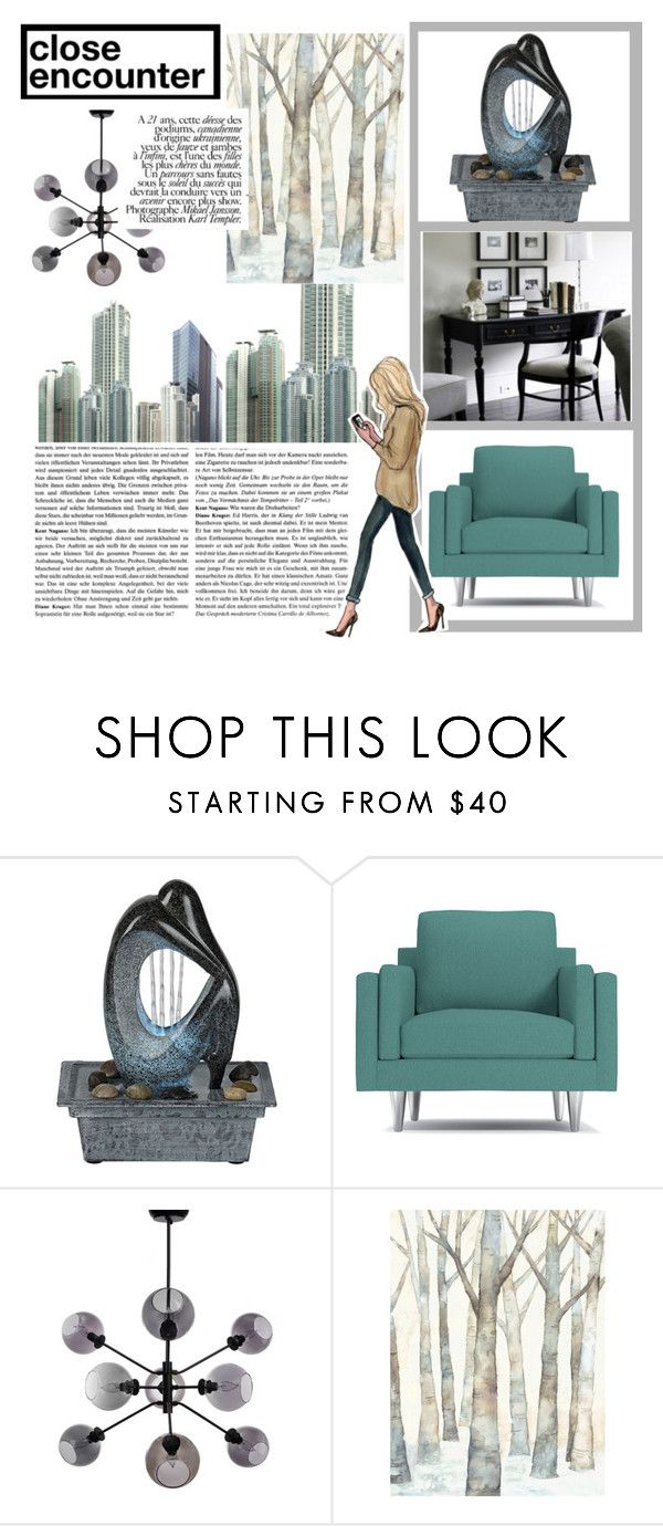 """""""Lower East Side"""" by princessbollywood ❤ liked on Polyvore featuring interior, interiors, interior design, home, home decor, interior decorating, Fountain, urban and condo"""