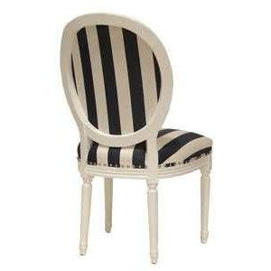 Charming Art Deco Bedrooms Black , Ivory | Palecek Lyon Oval Back Side Chair Black U0026  White