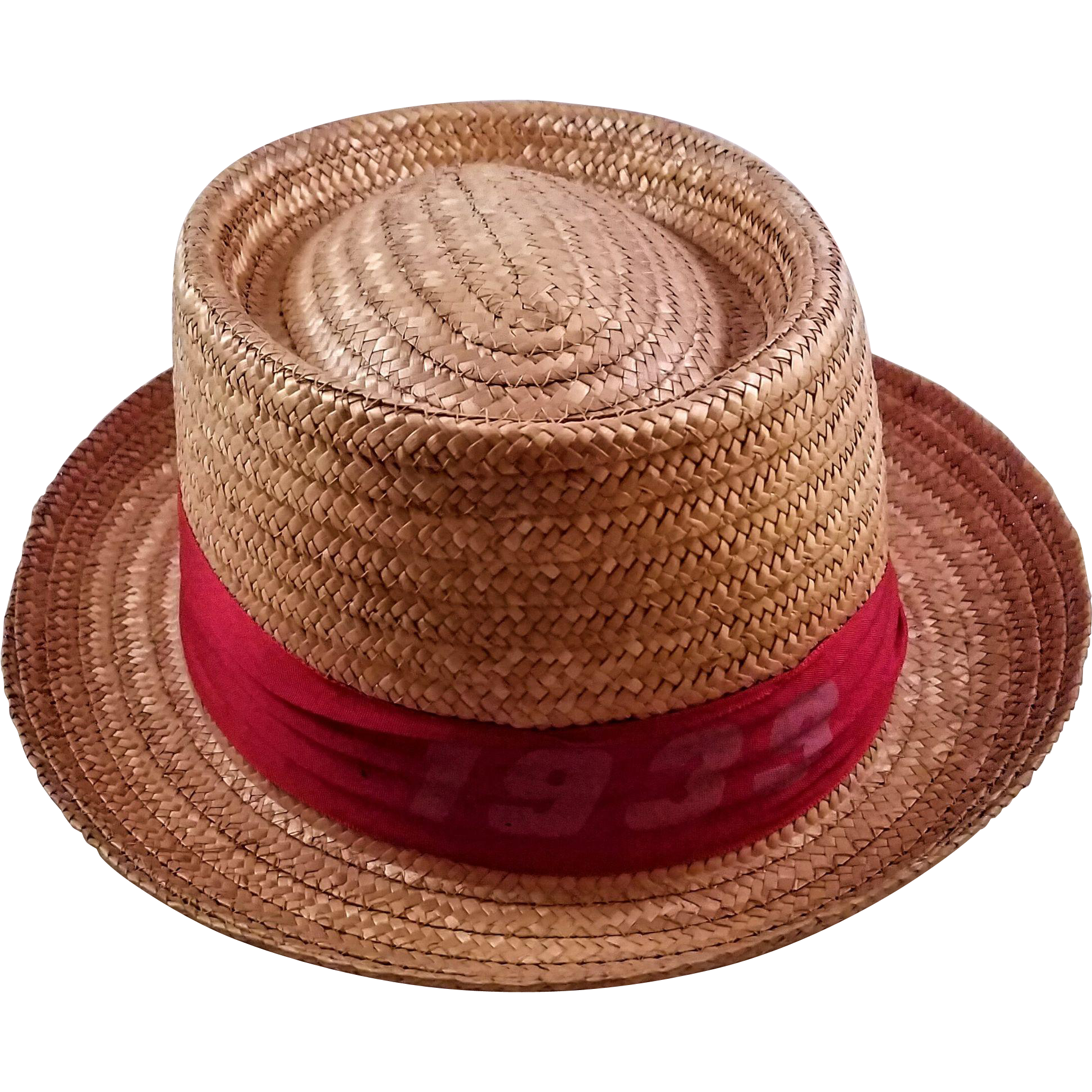 Vintage Men s 1939 Harvard Straw Hat - Made in Italy on RubyLane.com 5b1f4bec747