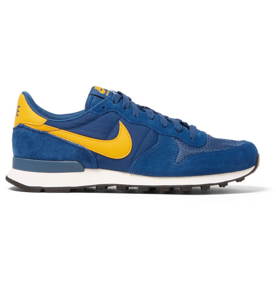 release date: 05395 13185 Nike - Internationalist Suede, Shell and Mesh Sneakers