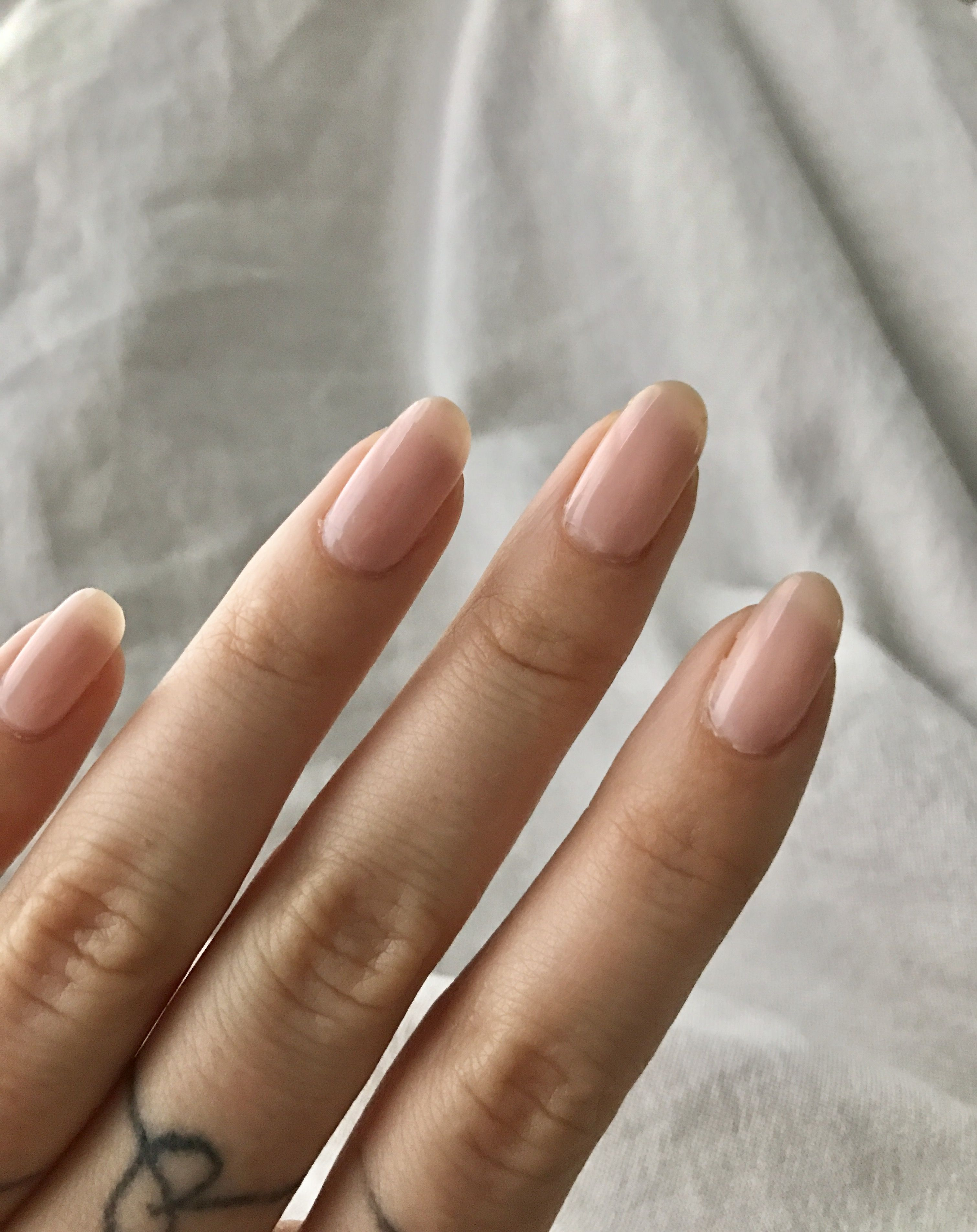 Round light pink/nude nails. OPI Nail Envy in Bubble Bath | nailed ...