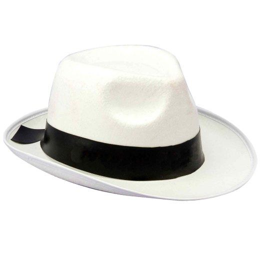 bb06e29faaf88 Amazon.com   White Gangster Hat   Costume Headwear And Hats   Toys   Games
