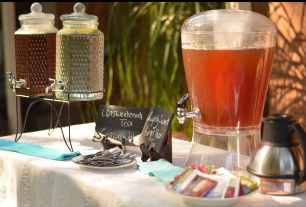 Several tea choices for a tea party