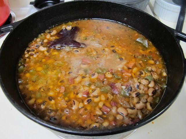 I Believe I Can Fry: Smoky Ham & Black-Eyed Pea Soup