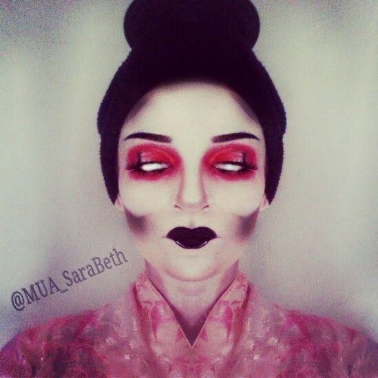 Creepy geisha | Makeup & SFX | Pinterest | Geisha and Halloween makeup