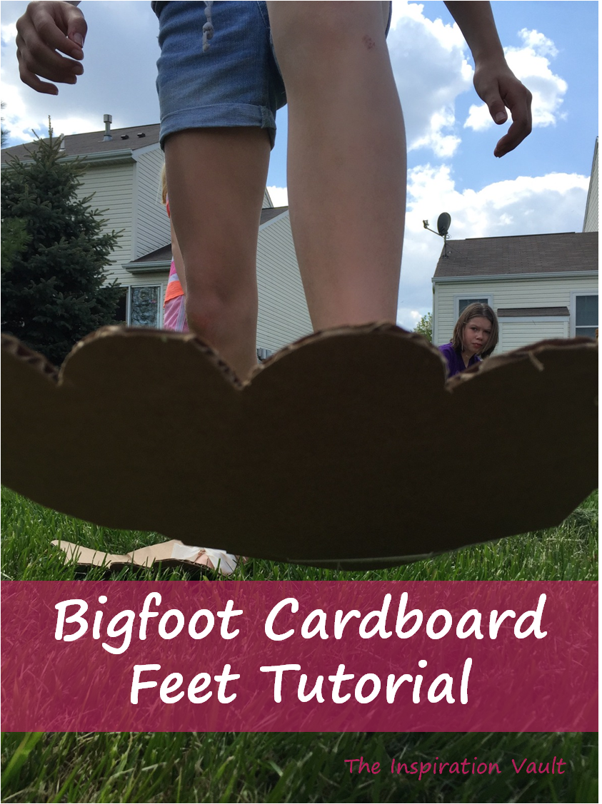 Bigfoot Cardboard Feet | Elle Marie Home DIY & Crafts