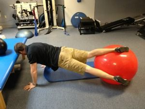 using an exercise ball for golf specific core