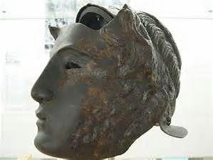 Roman cavalry Parade Helmet, face mask.