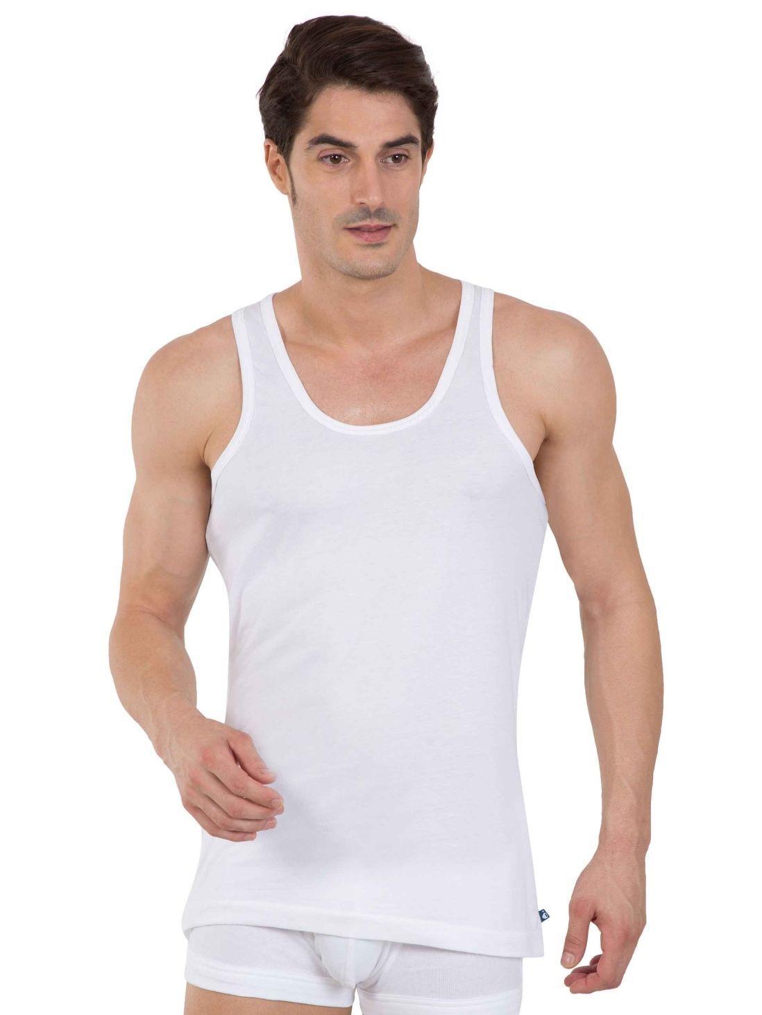 0b6aeac9 Jockey White Sleeveless Cotton Vest Basic Undershirt - Style #8820 Innerwear