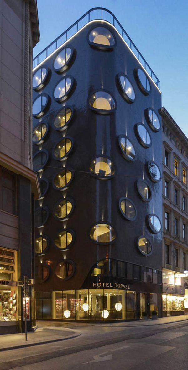 Modern Architecture Vienna new design hotel topazz in vienna's smallest central building