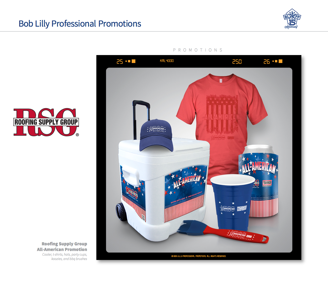 All American Promotion Fro Roofing Supply Group.