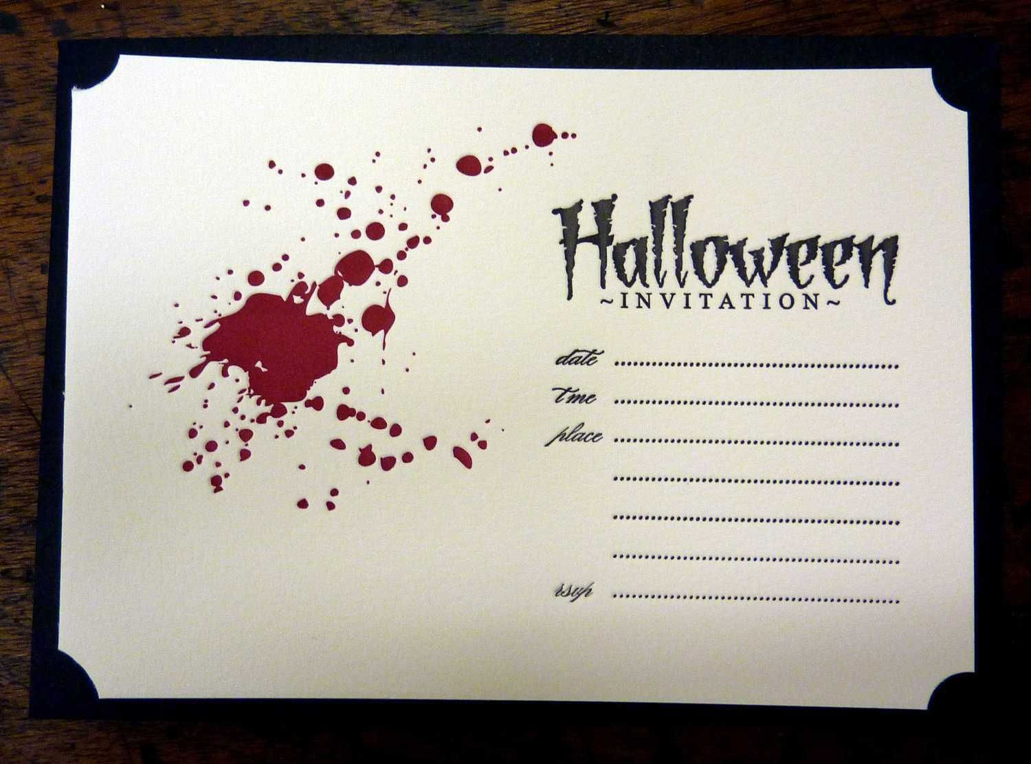 blood splash halloween template invitations halloween partystuff