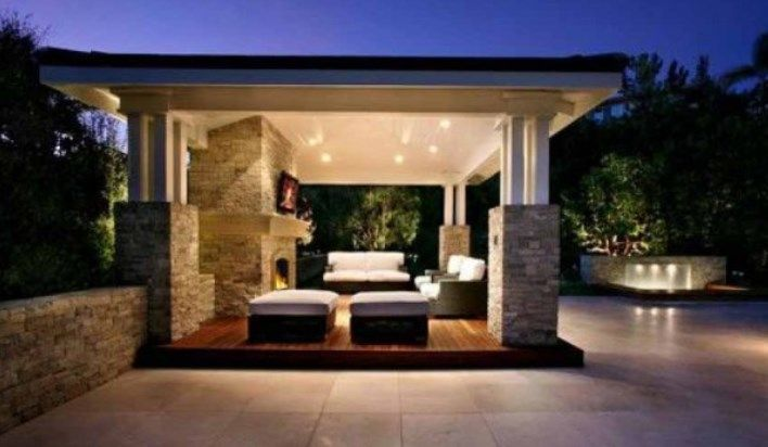 Contoh gazebo beton minimalis modern home modern