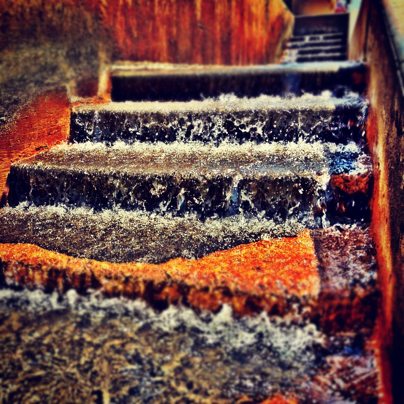 Waterfalls on steps at Balboa Park in San Diego, CA. Photo and edit by Jon Savage http://instacanv.as/savagephoto