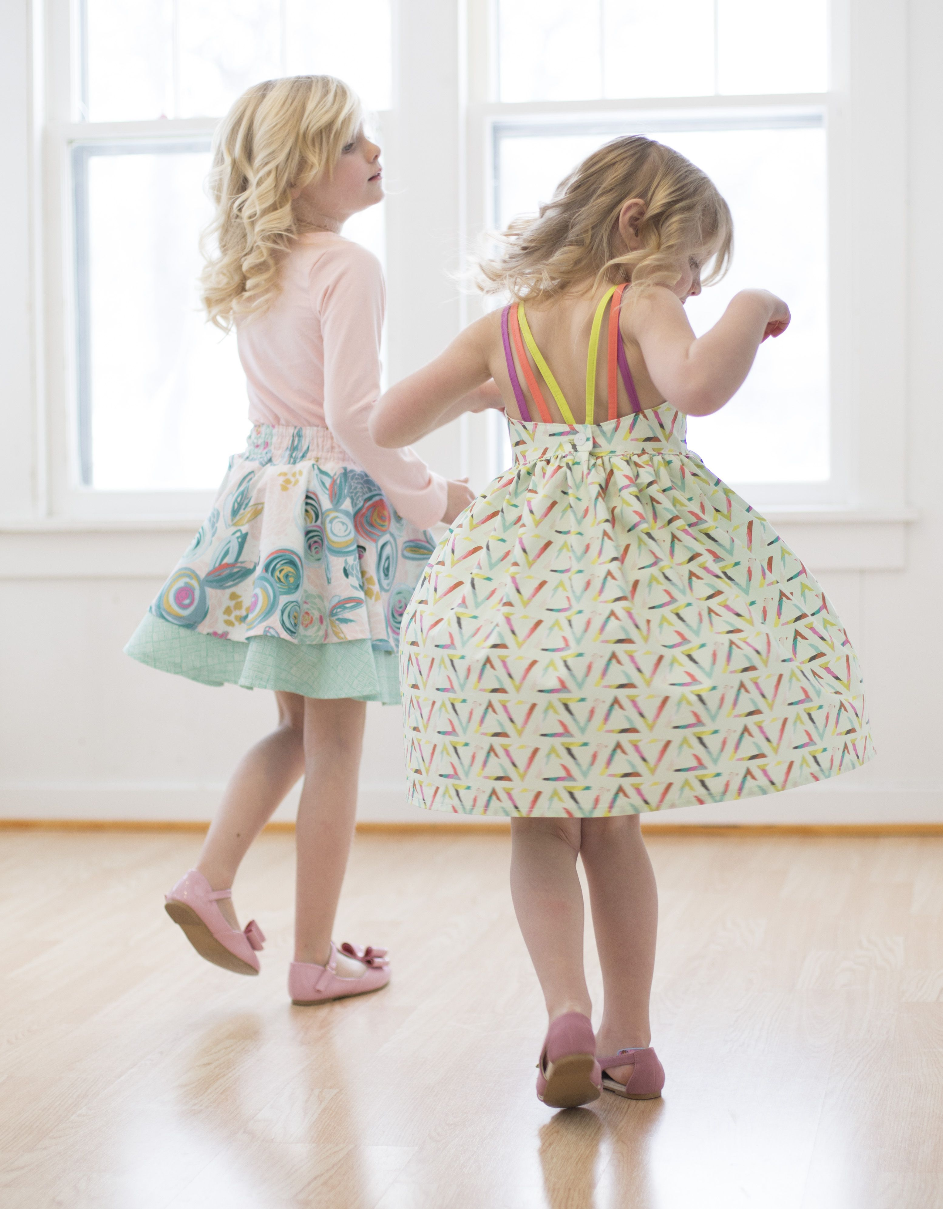 Coordinating play outfits from Simple Life Pattern Co.
