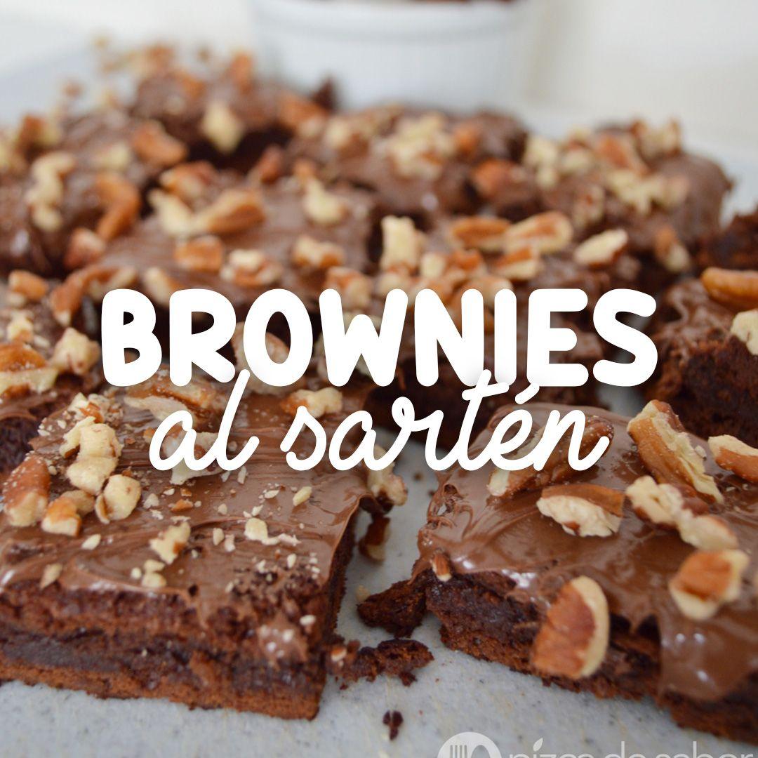 Brownie al sartén o brownies sin horno