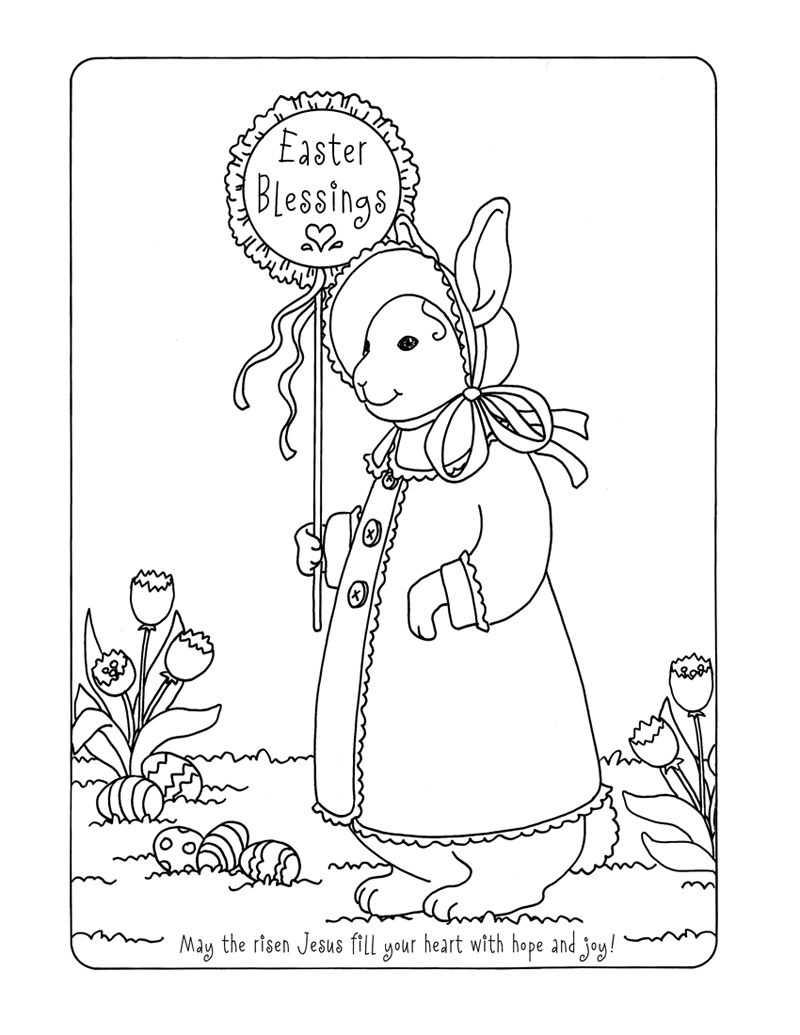 Easter Blessings | Coloring Sheets for Sunday School | Pinterest ...