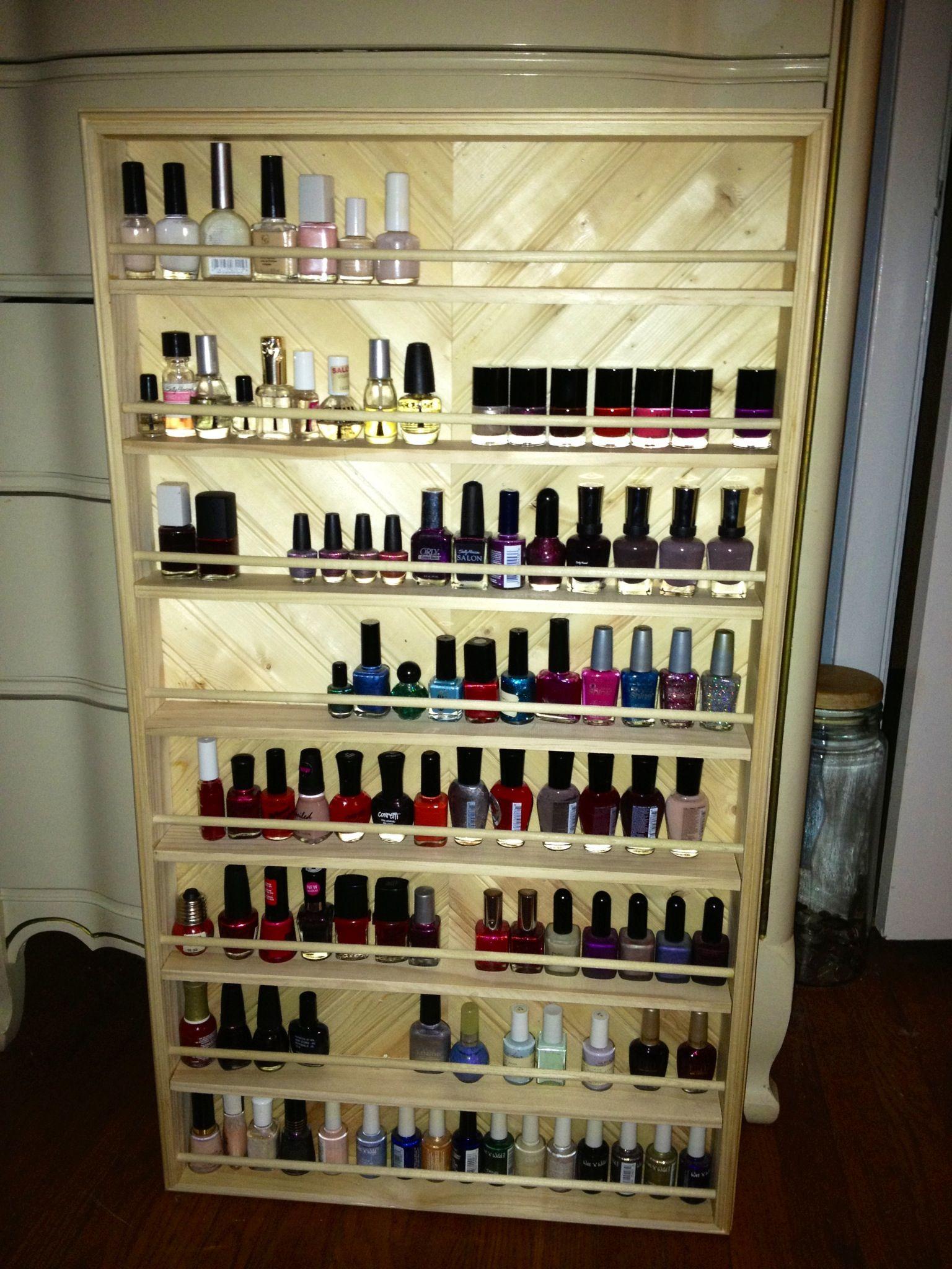 Custom nail polish holder!!   Fashion   Pinterest