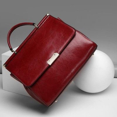 f36959c301 Women's Burgundy Formal Leather Handbags Classy Crossbody Bags | Baginning