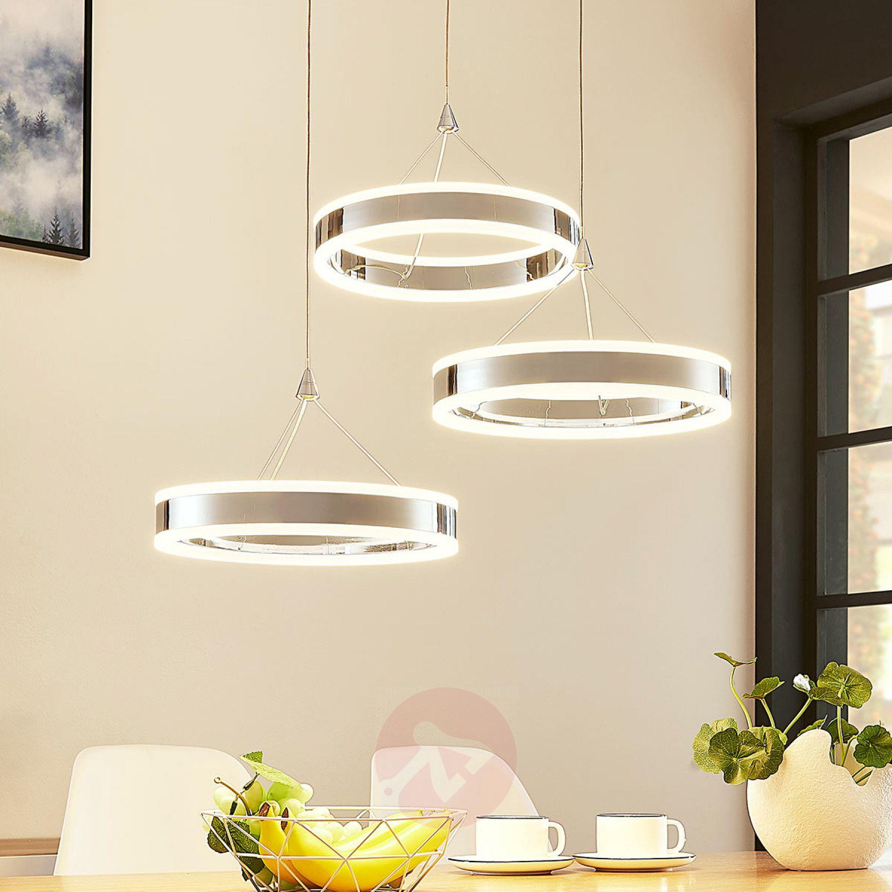 Led Pendellampe Lyani 3 Ringe Hohe Verschieden Pendellampen Beleuchtung Wohnzimmer Anhanger Lampen