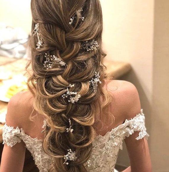 Bridal Hair Vine Bridal Jewelry Crystal Wreath Cry