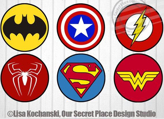 Digital Superhero Logo Symbols Superhero Stickers Superhero Etsy Superhero Stickers Superhero Symbols Superhero Baby Shower