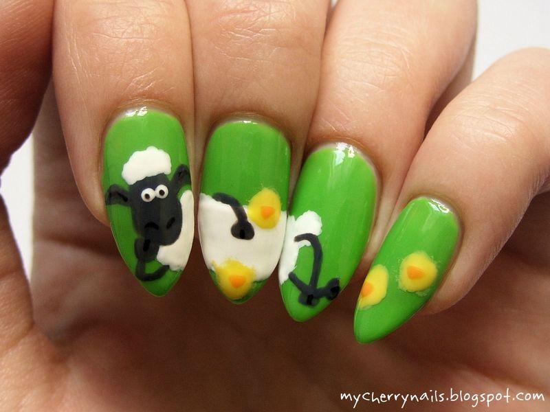 Shaun the Sheep nail art!   Nails   Pinterest