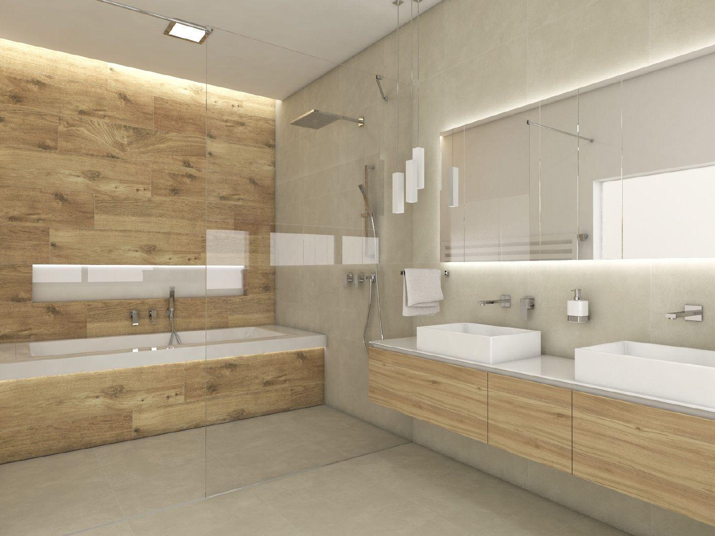 Moderní koupelna SAND - Pohled od vstupu - denní | Bathroom ... | {Badezimmer modernes design 27}