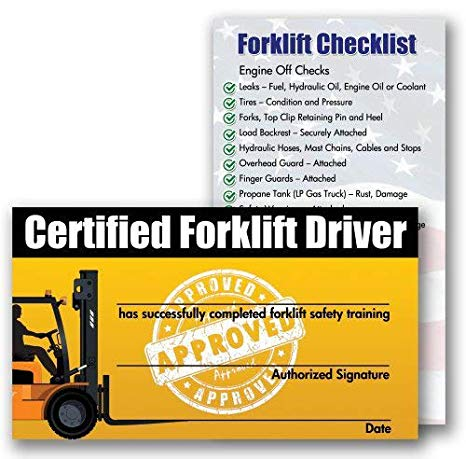 Forklift Certification Template 7 Templates Example Templates Example Certificate Templates Forklift Card Template