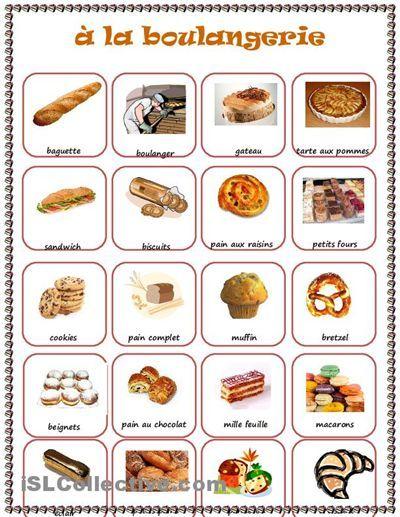 Boulangerie learning french - Dictionnaire cuisine francais ...