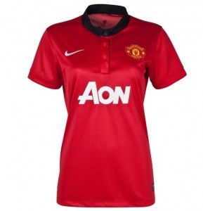 8a358d24be4 13 14 Manchester United Womens Jersey Home Soccer Jersey Nike Red ...