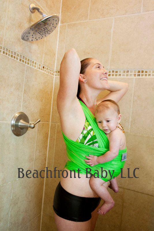 Beachfront Baby Wrap Carrier Water Babywearing At The Beach Pool