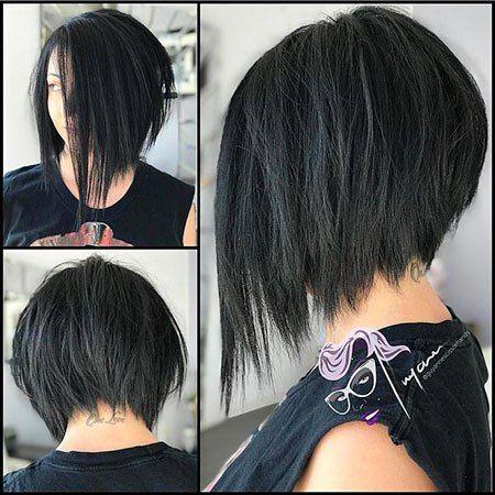 Short Asymmetrical Bob Hairstyles For 2018 Asymmetrical Hairstyles Short Thick Hair Styles Short Hair Styles For Round Faces Short Hair Styles