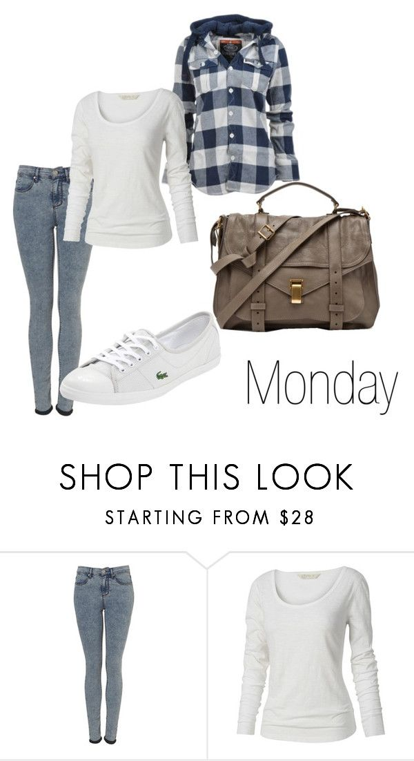 """-"" by samantastark ❤ liked on Polyvore featuring Superdry, Topshop, Fat Face, Lacoste and Proenza Schouler"