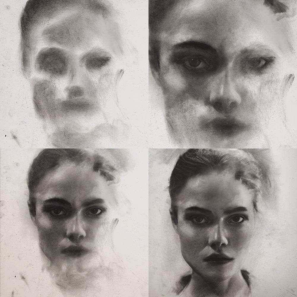 Design Stack: A Blog about Art, Design and Architecture: Charcoal and Graphite Portrait Drawings