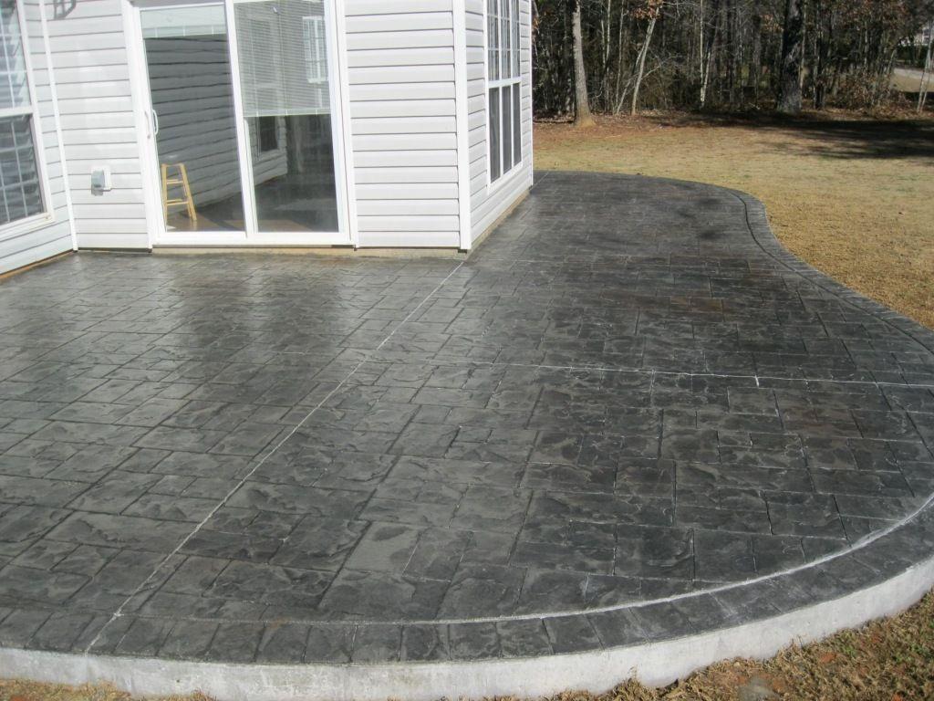 Concrete Patio Gray House Dark Concrete Concrete Patio Poured