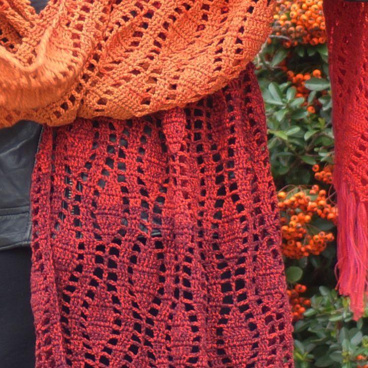 Free pattern Durable Colourful Fallen Leaves | shawl crochet ...