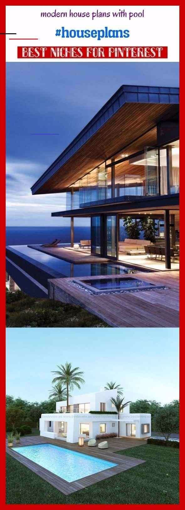 Photo of Modern house plans with pool #houseplans #seotips #seo #architecture. modern hou…