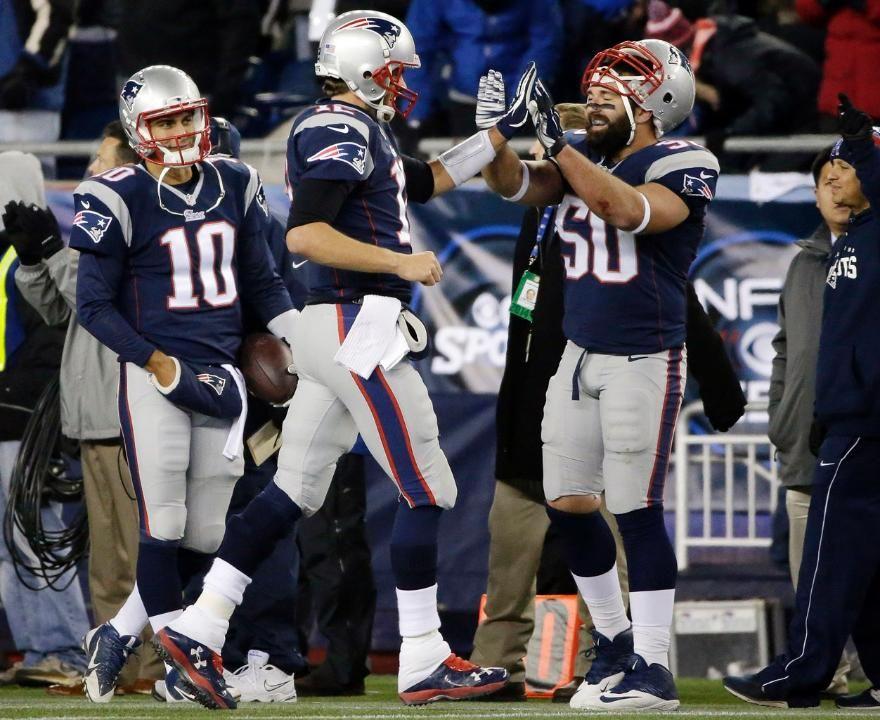 Jimmy Garoppolo, Tom Brady & Rob Ninkovich | New england ... Jimmy Garoppolo Patriots Shirt