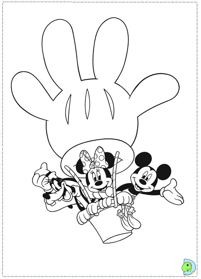 mickey mouse club house coloring pages mickey mouse clubhouse coloring page dinokids - Mickey Mouse Clubhouse Coloring Pages