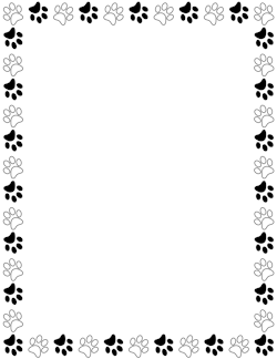 Black And White Paw Print Border Paw Print Clip Art Borders For Paper Page Borders Download thousands of free icons of animals in svg, psd, png, eps format or as icon font. www pinterest ru