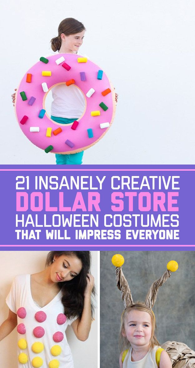 21 insanely creative dollar store halloween costumes that will impress everyone - Simple And Creative Halloween Costumes